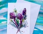 King Protea - (BLANK) Greetings Card