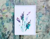 Lavender -  (BLANK) Greetings Card