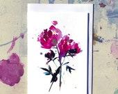 Peony - (BLANK) Greetings Card