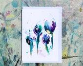 Tulips - (BLANK) Greetings Card