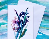 Gladioli - (BLANK) Greetings Card