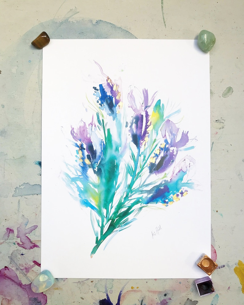 Butterfly Lavender Print image 0