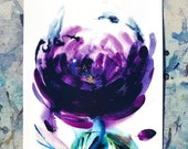 A4 Print - Darcy Bussel Rose, Rose print, Gift for flower lover, gift for gardeners, rose flower gift, flower art gift, flower room decor