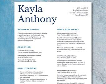 Single page resume   Etsy