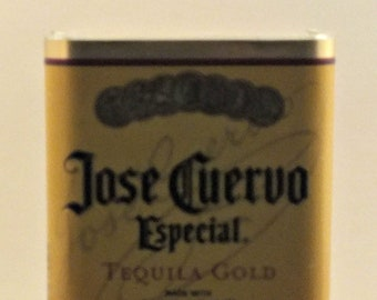Jose Cuervo Especial Empty Cut Liquor Bottle Candle - Scented Soy Wax - Mother's & Father's Day Gift - Man Cave - Mexico Blanco - Agave