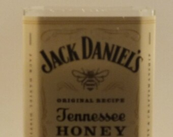 Jack Daniels Honey Tennessee Whiskey Empty Cut Liquor Bottle Candle - Scented Soy Wax -  Gift - Man Cave FREE SHIPPING!