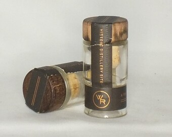 Woodford Reserve Bourbon - Empty Cut Liquor Bottle Shot Glasses -  Top Glass - Mother's & Father's Day Whiskey Gift -