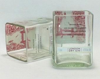 Beefeater London Dry Gin Bottle Rocks Glass (1) - Rocks Glasses - Drinking Glasses - Upcycled Glasses