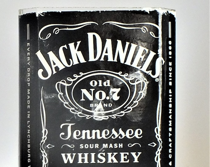 Jack Daniels Old No 7 Tennessee Whiskey Empty Cut Liquor Bottle Candle - Scented Soy Wax -  Gift - Man Cave FREE SHIPPING!