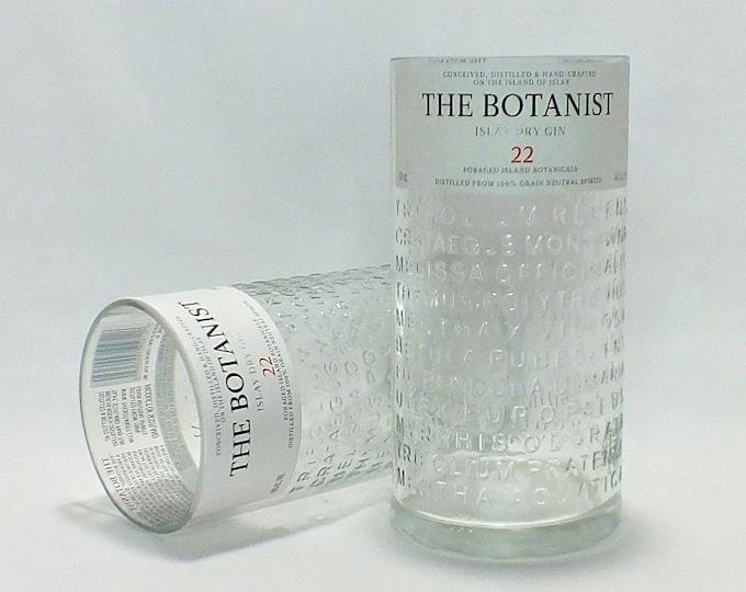 The Botanist Islay Dry Gin Bottle Rocks Glass (1) - Rocks Glasses - Drinking Glasses - Upcycled Glasses