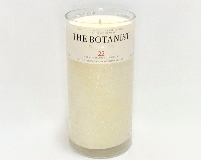 The Botanist Bottle Candle - London Gin - Scented Soy Wax -Empty Cut Liquor -  Gift - Man Cave - FREE SHIPPING!
