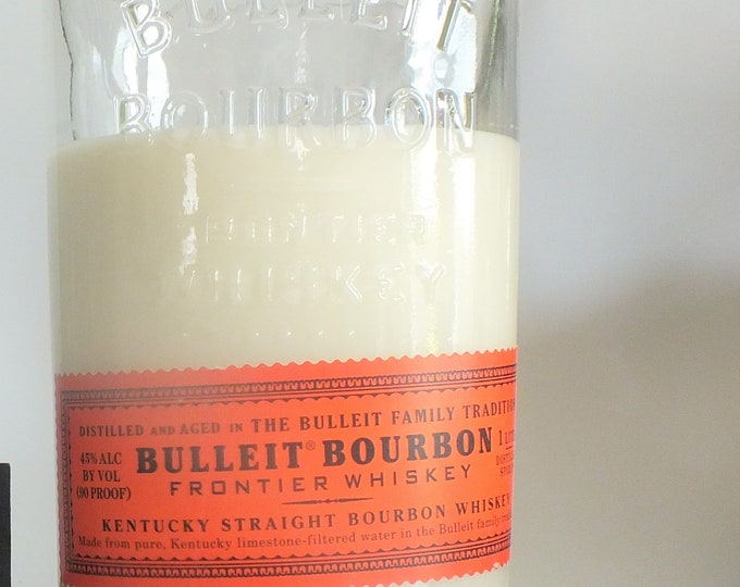 Bulleit Kentucky Straight Bourbon Whiskey Empty Cut Liquor Bottle Candle - Scented Soy Wax -  Whiskey Gift -Frontier FREE SHIPPING!