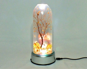 Fall Seasonal Bottle Lamp - 16 Color Changing Light RGB LED Remote Controlled - Bar Light - Glass Bottle - Decorative - Free Shipping