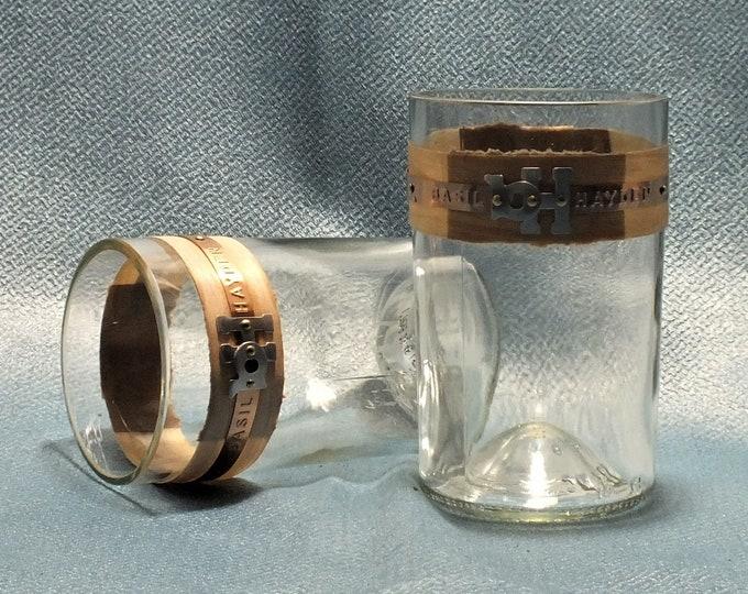 Basil Hayden Whiskey Bourbon Rocks Glass (1) - Made from 750ml Bottle - Whisky bottom glass