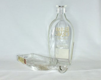 Elijah Craig Kentucky Straight Bourbon Whiskey Liquor Bottle Cigar Ashtray - Nuts Bowl - Jewelry box - Catch it all - Ash tray