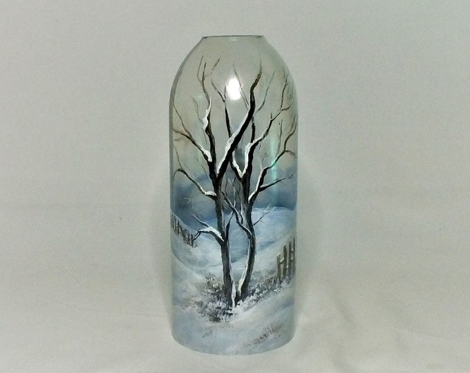 Winter Bottle Lamp Shade  - Bar Light - Glass Bottle - Decorative - Free Shipping - Seasonal