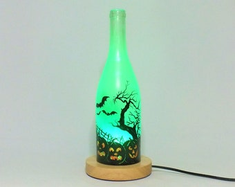 Halloween Decorative Bottle Lamp - 16 Color Changing Light RGB LED Remote Controlled - Bar Light - Glass Bottle - Free Shipping