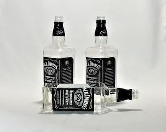 Jack Daniels Tennessee Whiskey Bottle cut lengthwise / serving dish / Planter / Indoor Plants / Succulent Glass Terrarium -