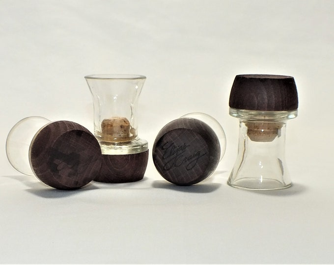 Shot Glasses - From Empty Cut Elijah Craig Liquor Bottle Top Glass - Whiskey Gift - Bourbon - Father of bourbon - Collectible