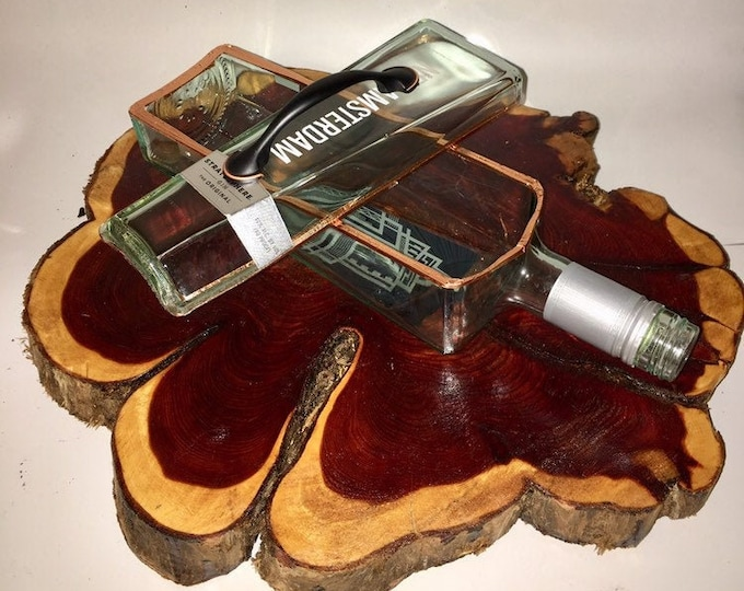 New Amsterdam liquor bottle box, Snack Bowl, Party or Candy Dish - Nuts Bowl - Booze - Licor - Jewelry Box - Cigars - Jager Ships Free!
