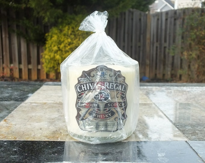 Chivas Bottle Candle - Regal Blended Scotch Whisky - Scented Soy Wax - Empty Cut Liquor - Whiskey Gift - Man Cave FREE SHIPPING!