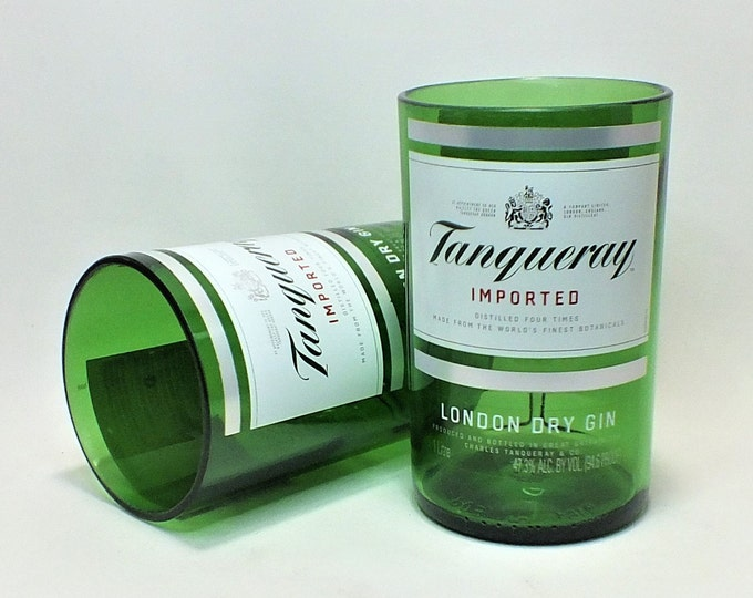 Tanqueray Rocks Glass (1) - Liqueur - Liquor Bottle - Rocks Glasses - Drinking Glasses - Upcycled Glasses - Imported London Dry Gin