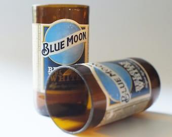 Blue Moon Bottles Glasses - Cerveza - Guy Beer Mug Unique Gift tumblers Belgium