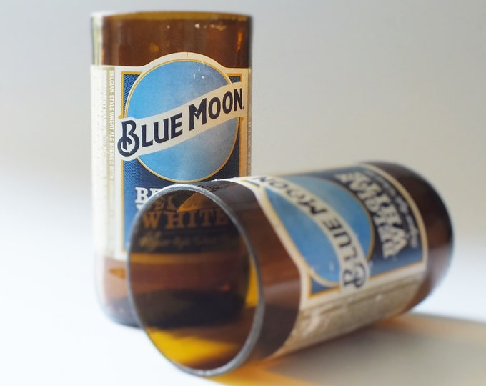 Blue Moon Bottles Glasses - Cerveza - Guy Beer Mug Unique Gift tumblers Belgium