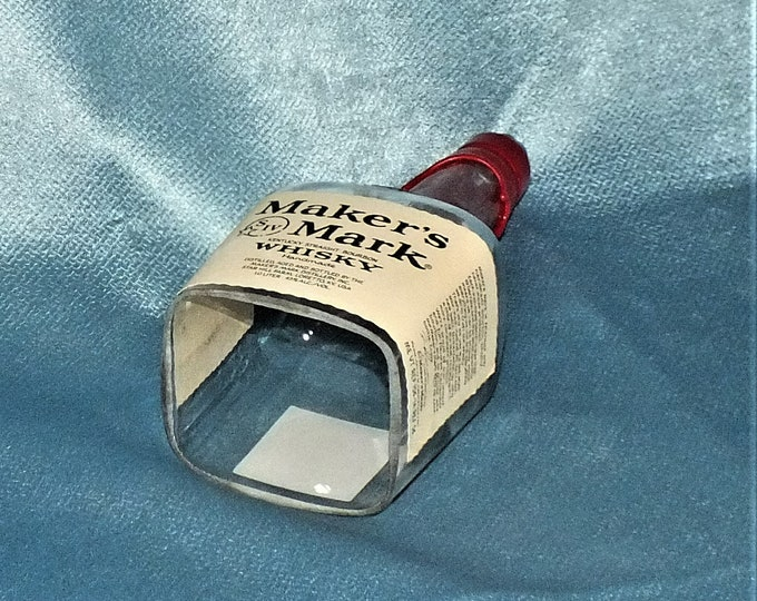 Makers mark Kentucky Straight Bourbon Cut Bottle Hanging Light - lamp - Cut Liquor Bottles