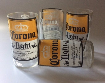 Corona light Beer Bottles Glasses and Shot Glasses - Cerveza,- Guy Beer Mug Unique Gift tumblers Mexico - Chupitos