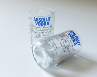 Absolut Vodka Mini Bottle Shot Glass - 50ml bottles - Titos - Fathers Mothers gift - Best Vodka - Sweden