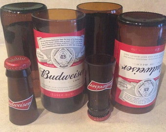 Budweiser Beer Bottles Glasses and Shot Glasses - Cerveza,- Guy Beer Mug Unique Gift tumblers Bud
