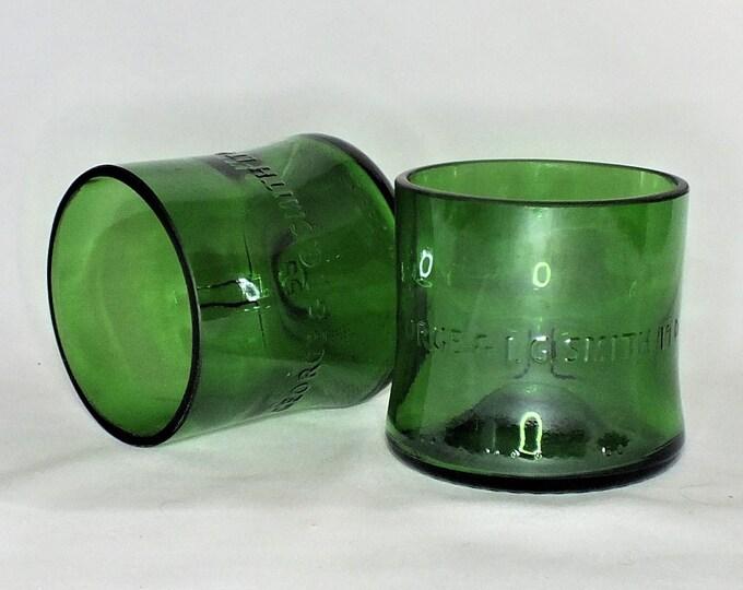 The Glenlivet Single Malt Scotch Whisky Liquor Bottle Cut Glass - Rocks Glasses - Drinking Glasses - Upcycled Glasses 1 liter bottle