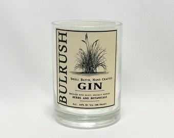 Bulrush Rocks Glass (1) - Gin- Liquor Bottle - Rocks Glasses - Drinking Glasses - Upcycled Glasses - Small Batch