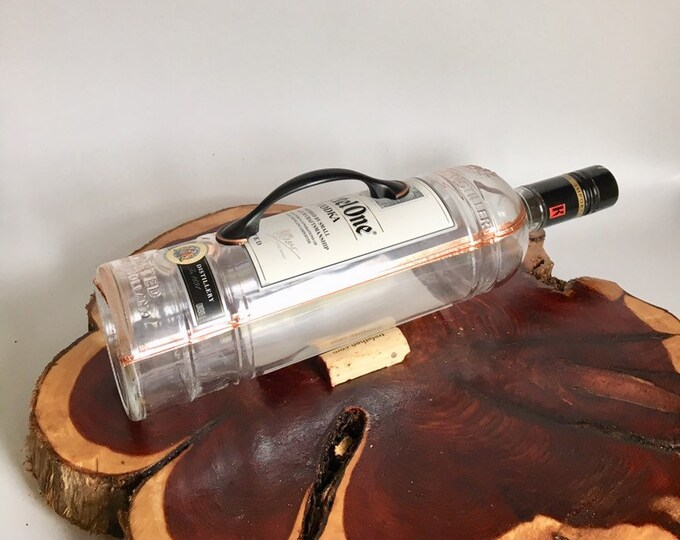 Ketel One Vodka liquor bottle box, Snack Bowl, Party or Candy Dish - Nuts Bowl - Booze - Licor - Jewelry Box - Cigars - Potato Vodka
