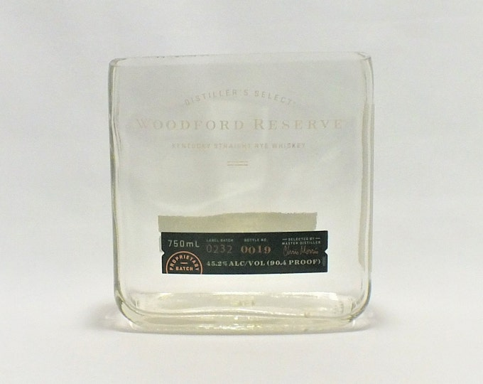 Woodford Reserve Bottle Candle - Kentucky Straight Rye Whiskey - Scented Soy Wax - Empty Cut Liquor Bottle - Whiskey Gift FREE SHIPPING!