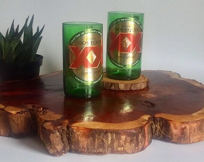 Dos Equis XX Beer Bottles Glasses and Shot Glasses - Cerveza,- Guy Beer Mug Unique Gift tumblers Mexico