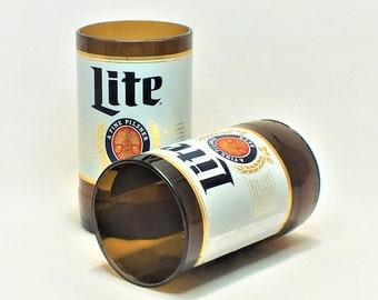 Miller Lite Beer Bottles Glasses - Cerveza - Guy Beer Mug Unique Gift tumblers - Miller light
