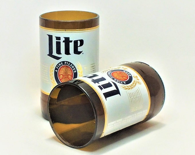 Miller Lite Beer Bottles Glasses - Cerveza - Guy Beer Mug Unique Gift tumblers - Miller light