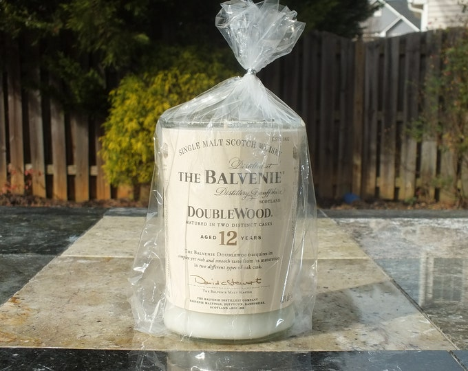The Balvenie Single Malt Scotch Whisky Empty Cut Liquor Bottle Candle - Scented Soy Wax -  Gift - Man Cave FREE SHIPPING!