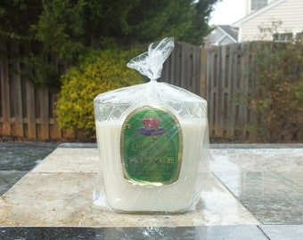 Crown Royal Apple Canadian Whiskey Empty Cut Liquor Bottle Candle - Scented Soy Wax -  Gift - Man Cave