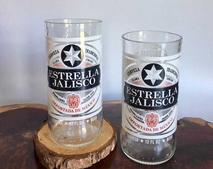 Estrella de Jalisco Beer Bottles Glasses and Shot Glasses - Cerveza,- Guy Beer Mug Unique Gift tumblers Mexico