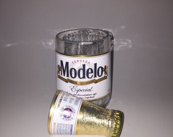 Modelo Especial Beer Bottles Glasses and Shot Glasses - Cerveza,- Guy Beer Mug Unique Gift tumblers - Mexican Beer - Mexico