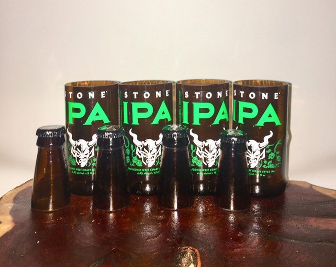 Stone IPA Beer Bottles Glasses and Shot Glasses - Cerveza,- Guy Beer Mug Unique Gift tumblers - Stone Brewery