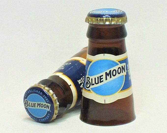 Blue Moon Shot Glasses - Beer - Cerveza,- Guy Beer Mug Unique Gift tumblers Belgium