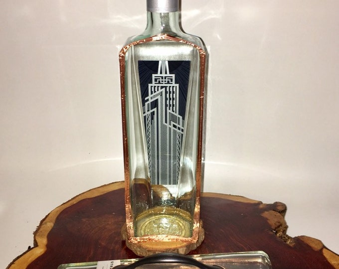 New Amsterdam liquor bottle box, Snack Bowl, Party or Candy Dish - Nuts Bowl - Booze - Licor - Jewelry Box - Cigars - Jager