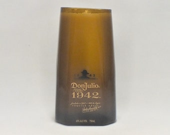 Don Julio 1942 Bottle Candle - Scented Soy Wax - Tequila Empty Cut Liquor Bottle - Gift - Rarest Tequila FREE SHIPPING!