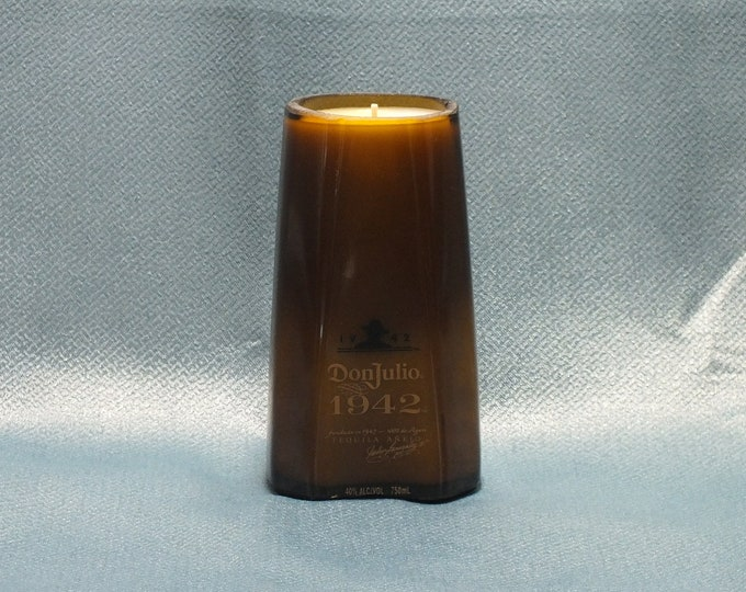 Don Julio 1942 Tequila Empty Cut Liquor Bottle Candle Scented Soy Wax -  Gift - Rarest Tequila FREE SHIPPING!