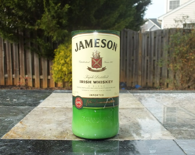 Jameson Irish Whiskey Empty Cut Liquor Bottle Candle - Scented Soy Wax -  Gift - Man Cave FREE SHIPPING!