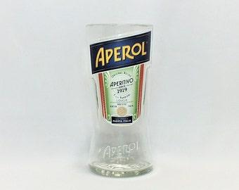 Aperol Rocks Glass (1) - Liqueur - Liquor Bottle - Rocks Glasses - Drinking Glasses - Upcycled Glasses